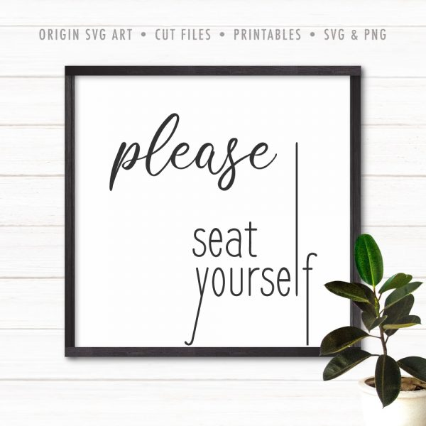 Please Seat Yourself SVG