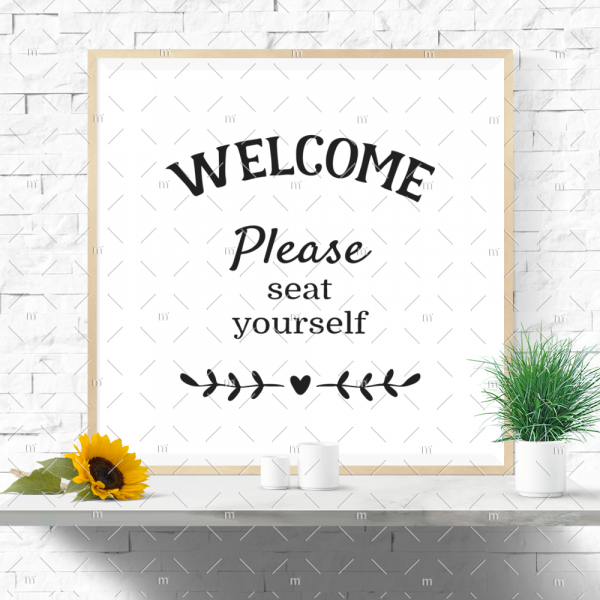 Welcome, Please Seat Yourself SVG