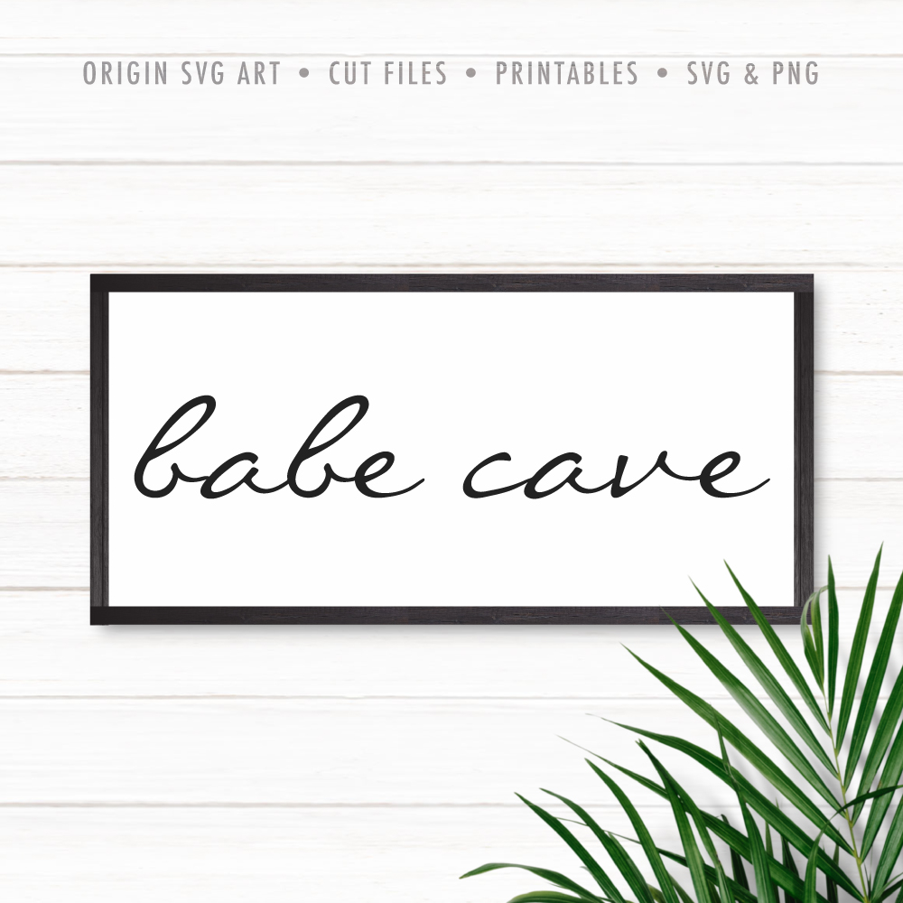 Babe Cave SVG