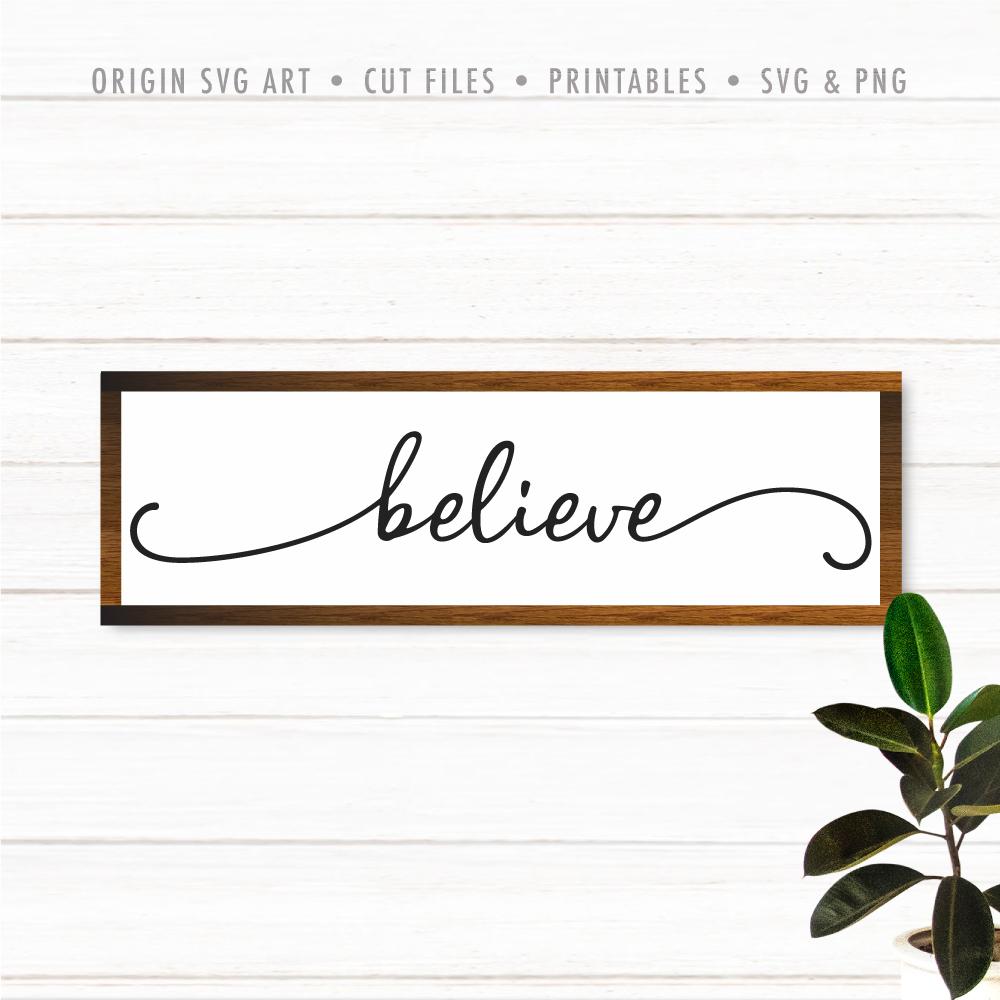 Believe SVG