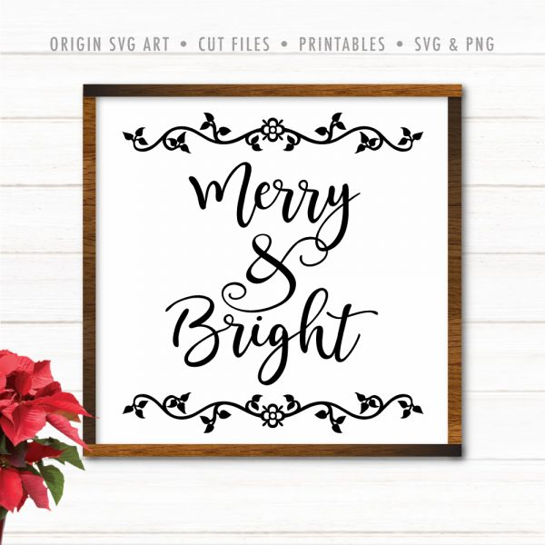 merry and bright cutfile