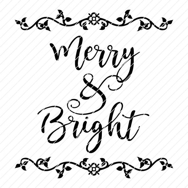 merry & bright svg