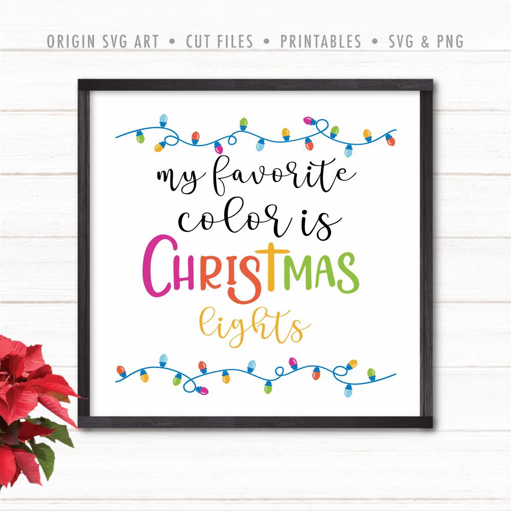 christmas light svg