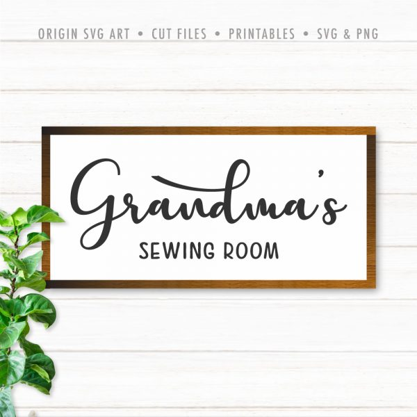 Grandma's Sewing Room SVG