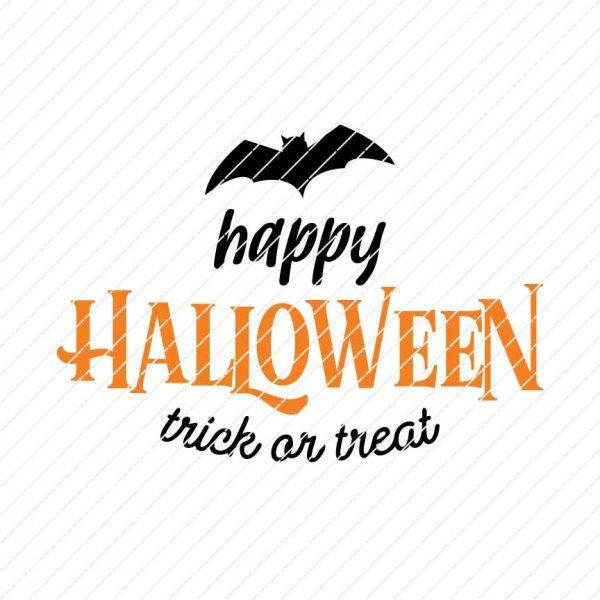 Happy Halloween Trick Or Treat SVG