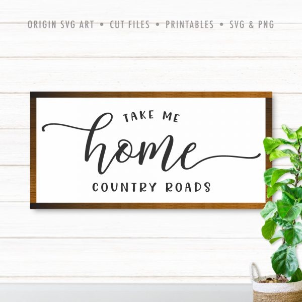 Take Me Home, Country Roads SVG