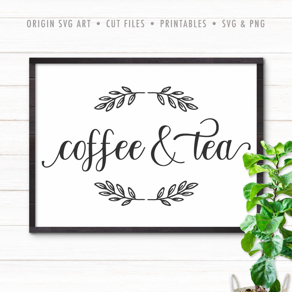 coffee and tea svg