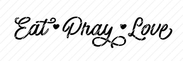 Eat, Pray, Love SVG
