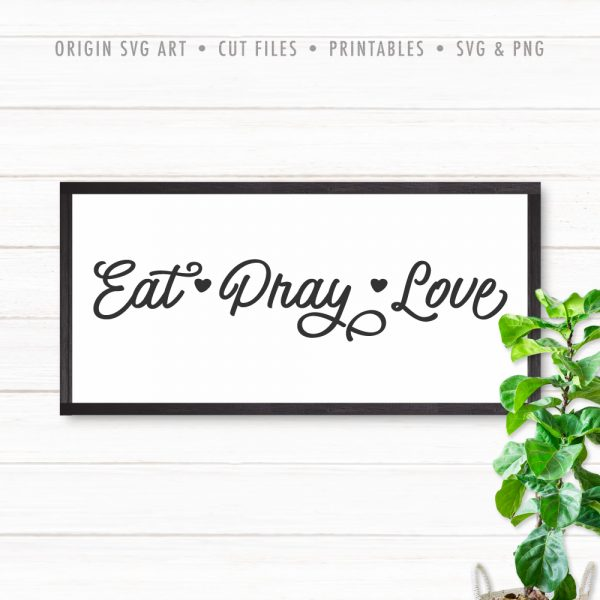 Eat, Pray, Love SVG