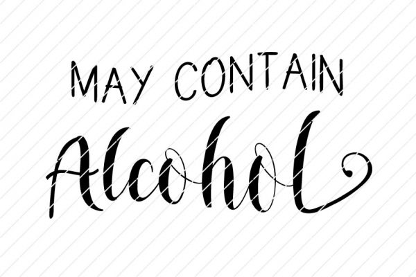 May Contain Alcohol SVG