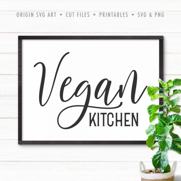 vegan kitchen svg