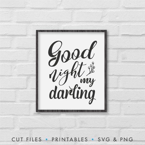 Good Night My Darling SVG