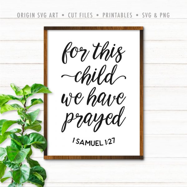 For This Child, We Have Prayed, SVG