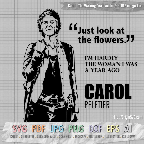 Carol Peletier The Walking Dead Clip art SVG Cut files