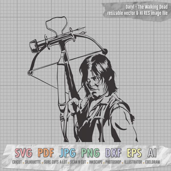 The Walking Dead Daryl Dixon SVG