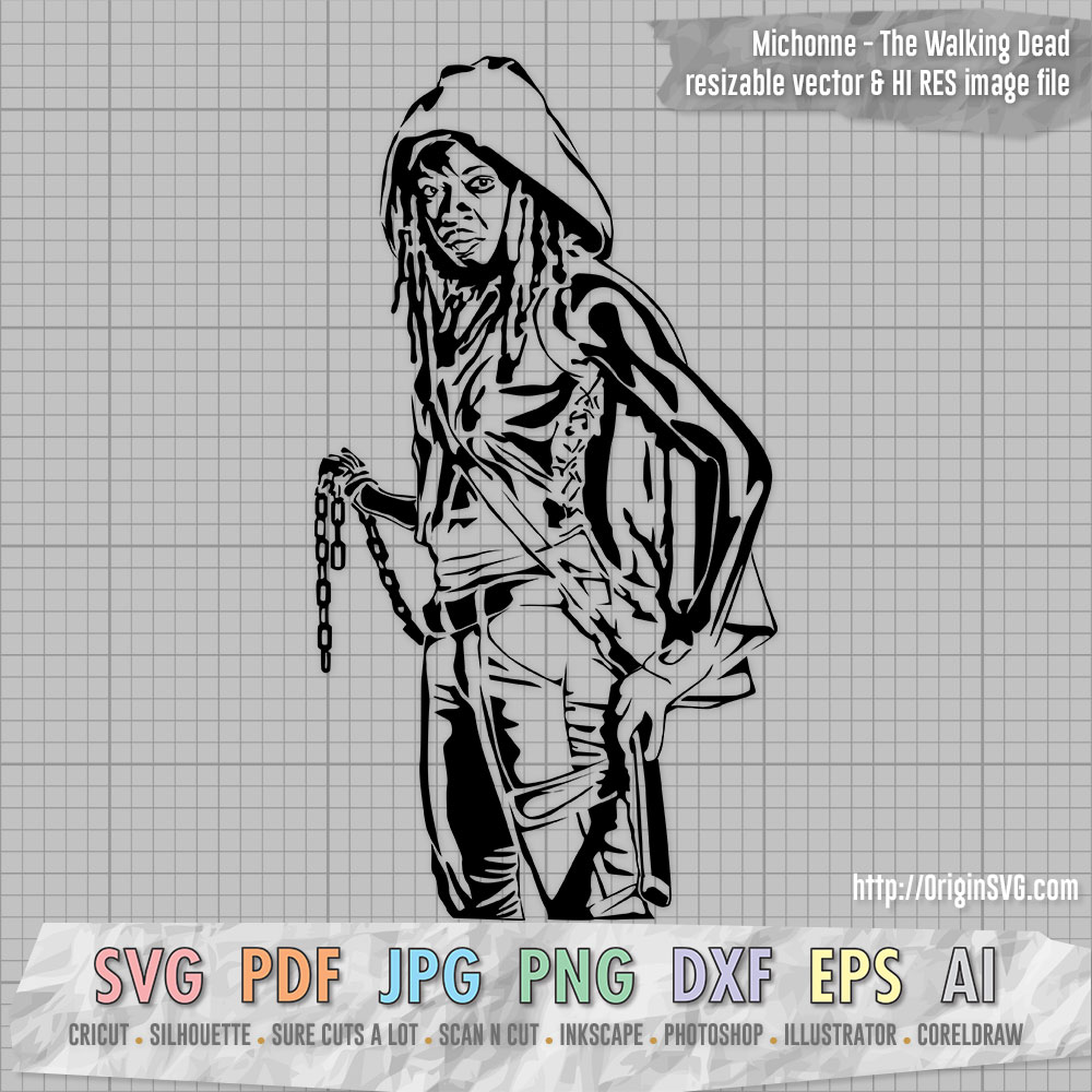The Walking Dead Michonne SVG Clip art