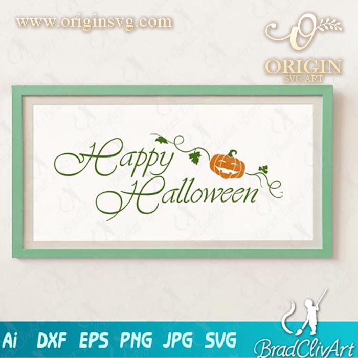 happy halloween pumpkin svg