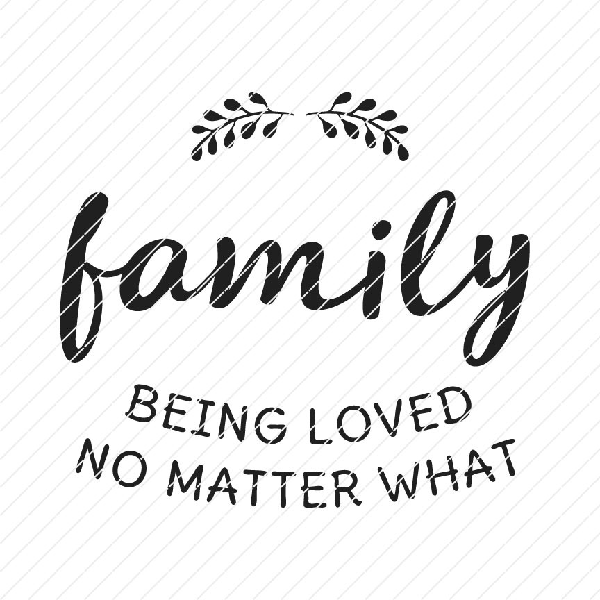 family wallsign svg