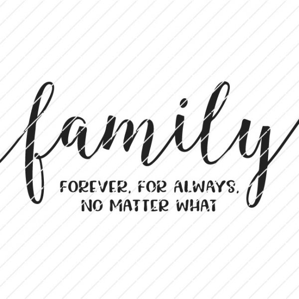 family cricut file