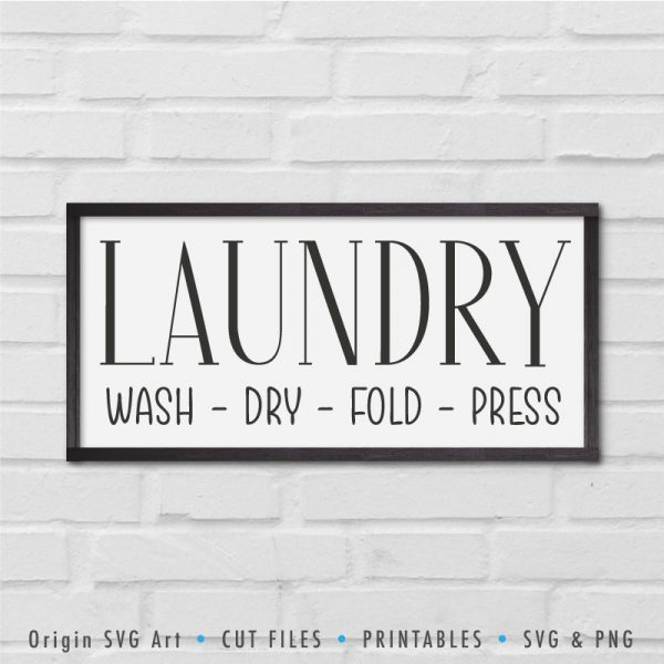 Laundry: Wash, Dry, Fold, Press SVG