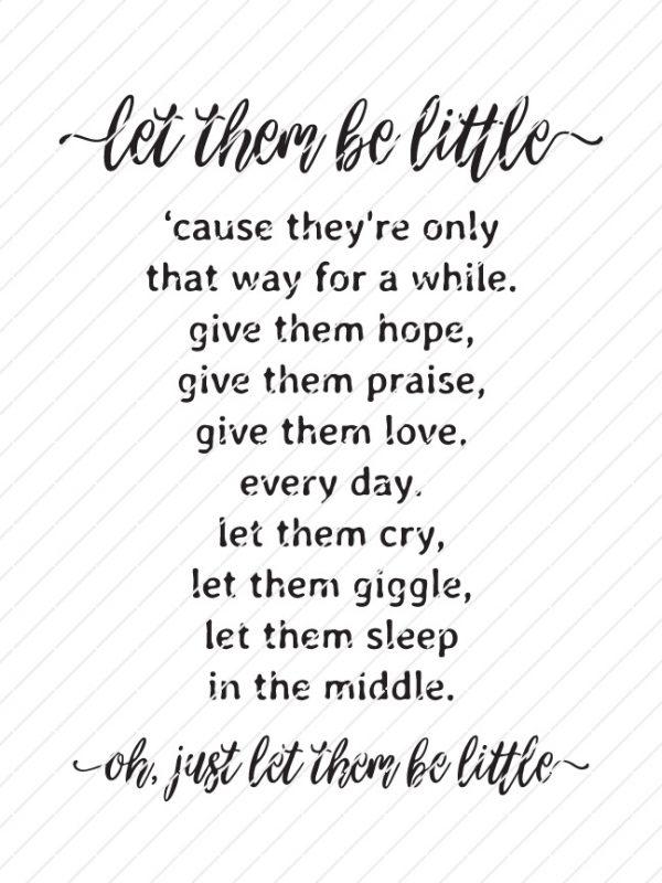 Let Them Be Little SVG