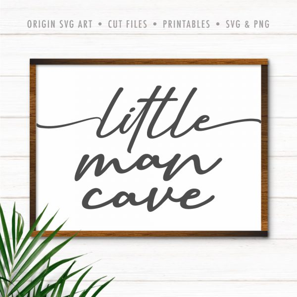 Little Man Cave SVG