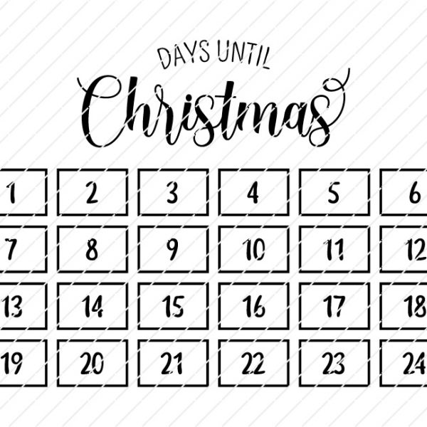 days christmas svg