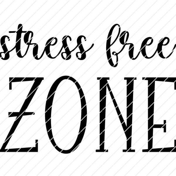 Stress Free Zone SVG