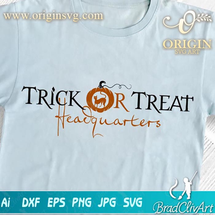 trick or treat headquarters svg