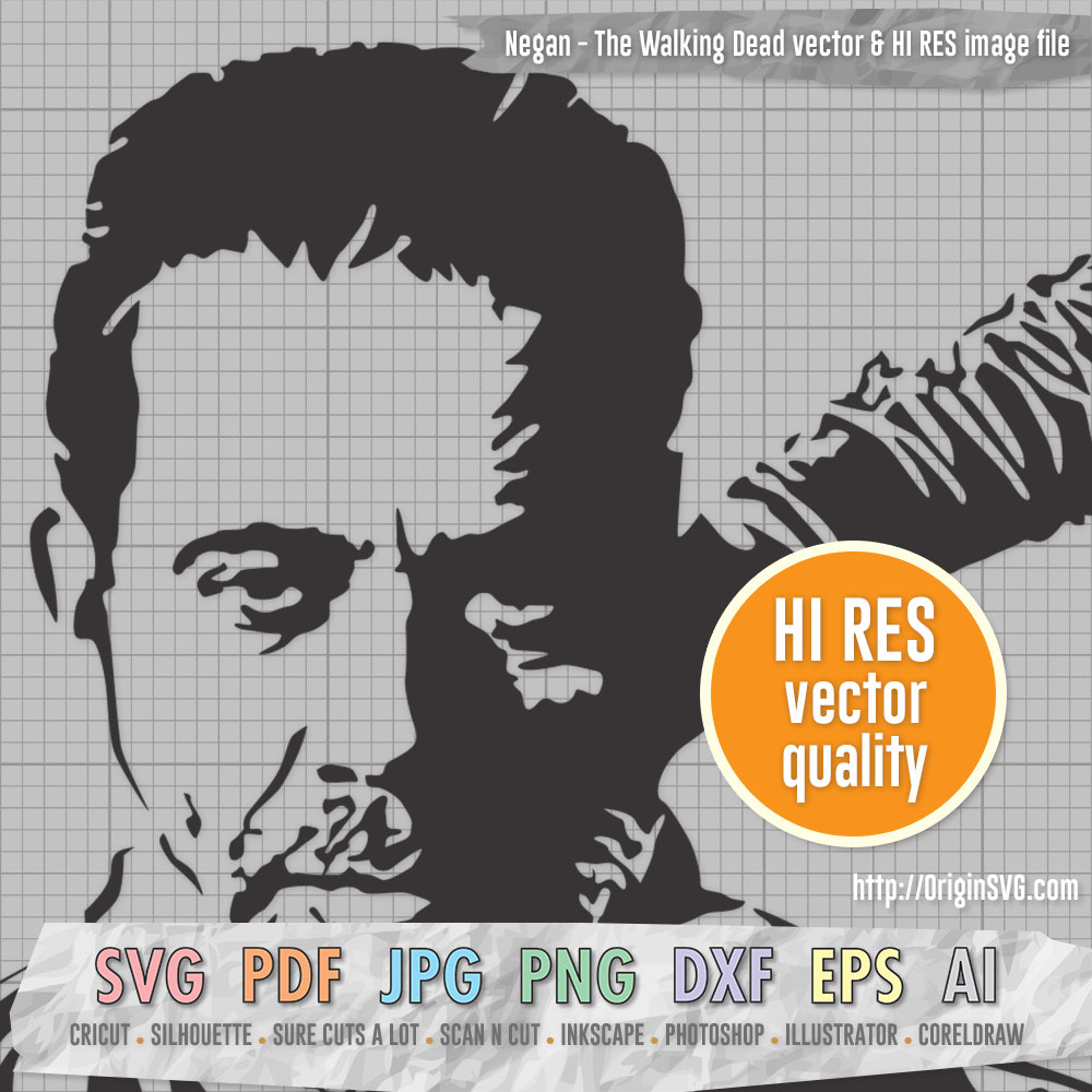Negan the Walking Dead Jeffrey Dean Morgan SVG cut files