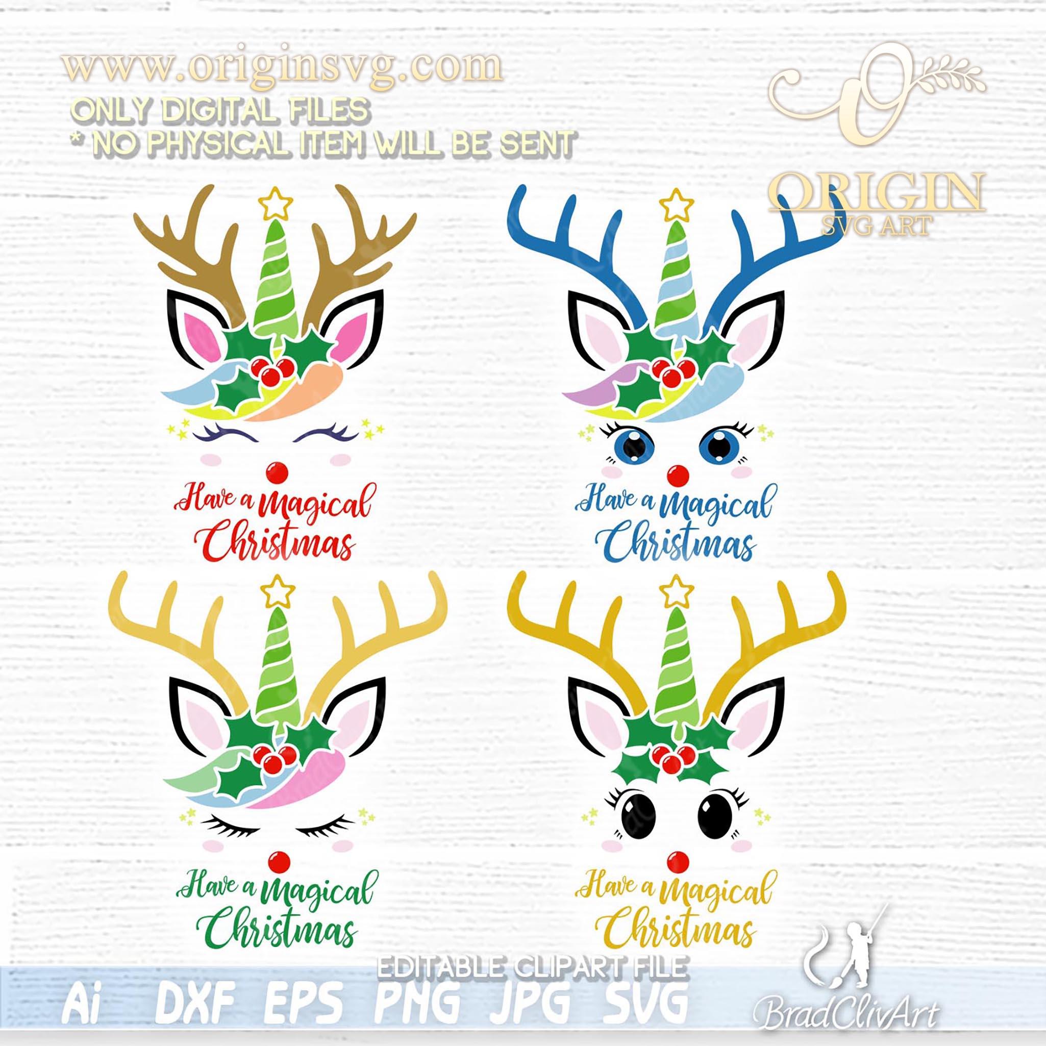 bundle christmas unicorn