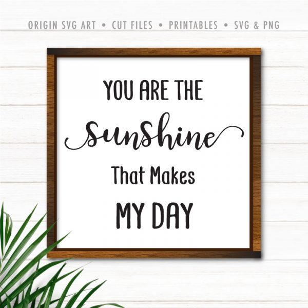 You Are The Sunshine That Makes My Day SVG