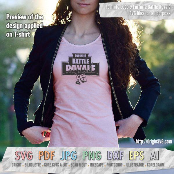 fortnite battle royale logo t-shirt