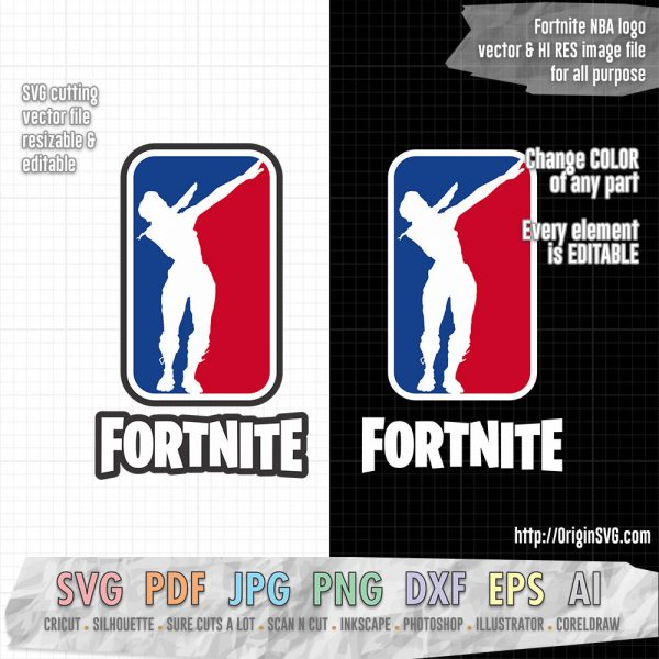 fortnite NBA logo dab SVG cut files