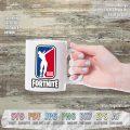fortnite NBA logo dab SVG cut files mug
