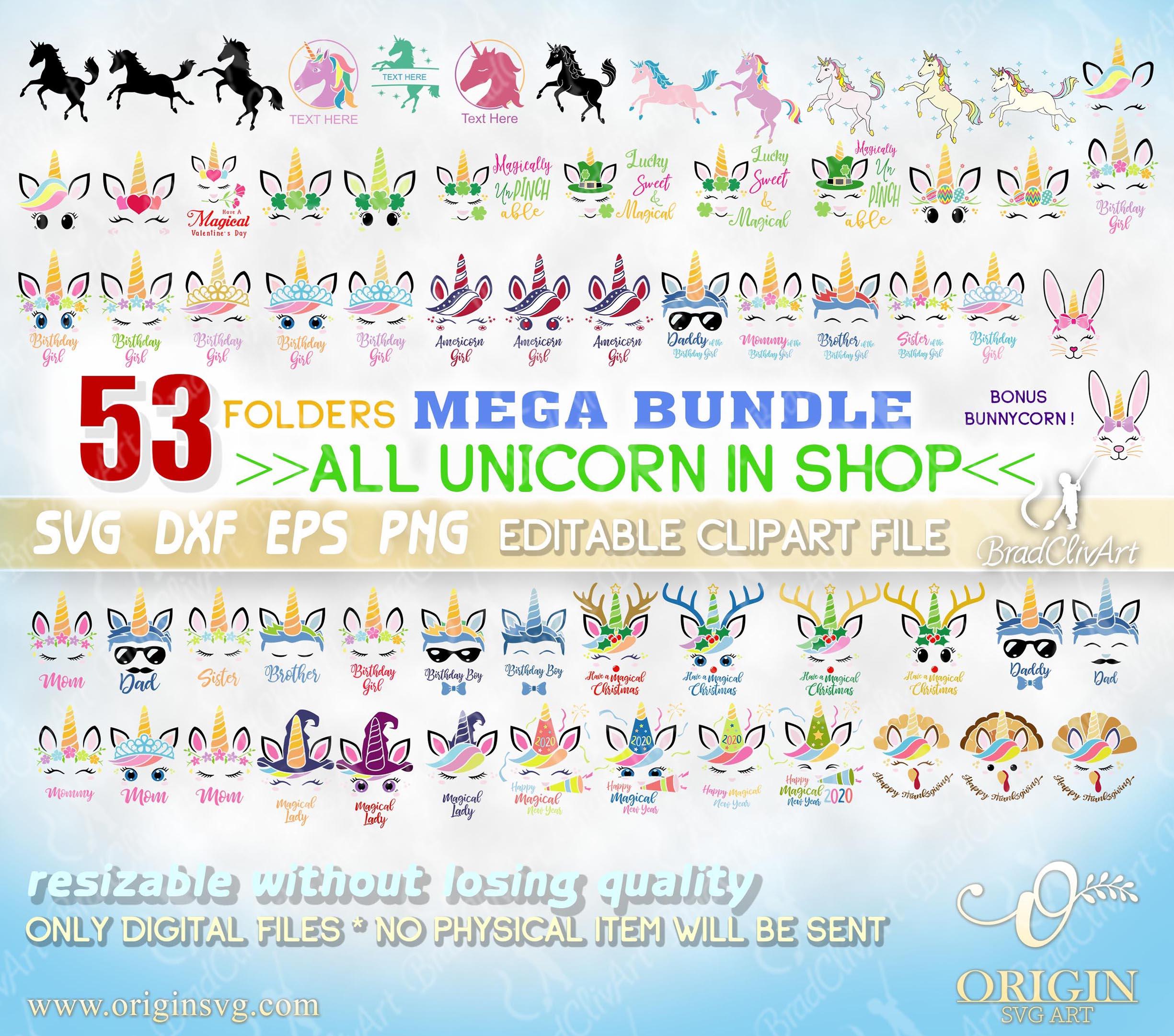 bundle unicorn svg