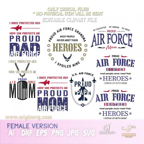 proud air force svg