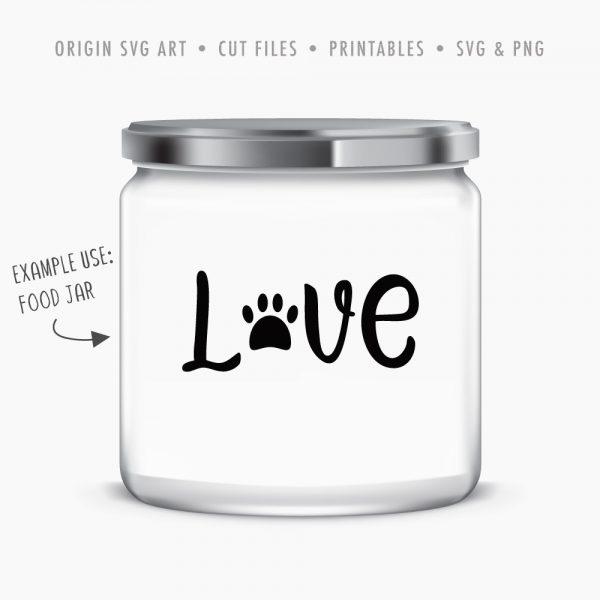 dog-treat-jar-love svg