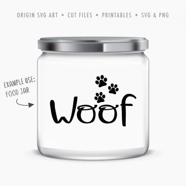 dog-treat-jar-01-woof svg