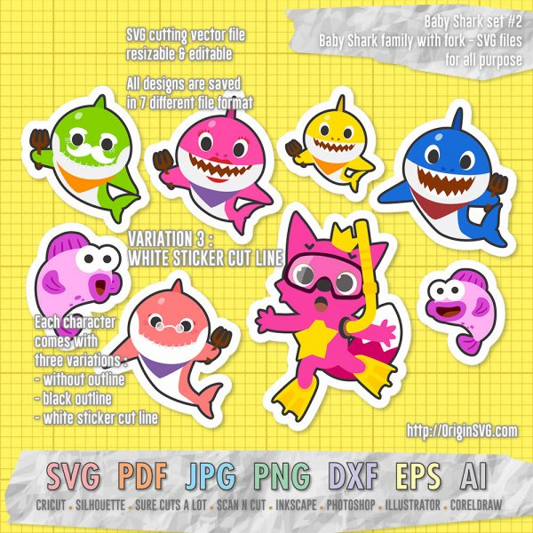 baby shark pinkfong set 2