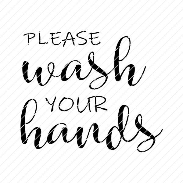 please wash your hands svg