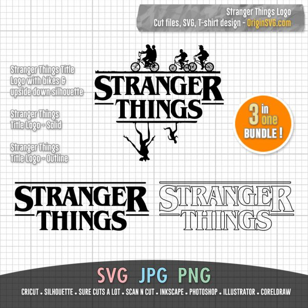 stranger things logo bundle