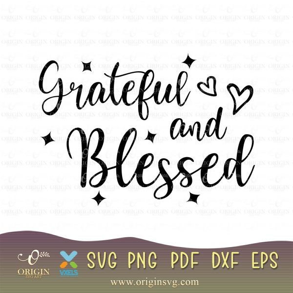 grateful and blessed cricut