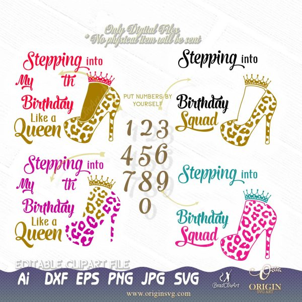 stepping my birthday svg
