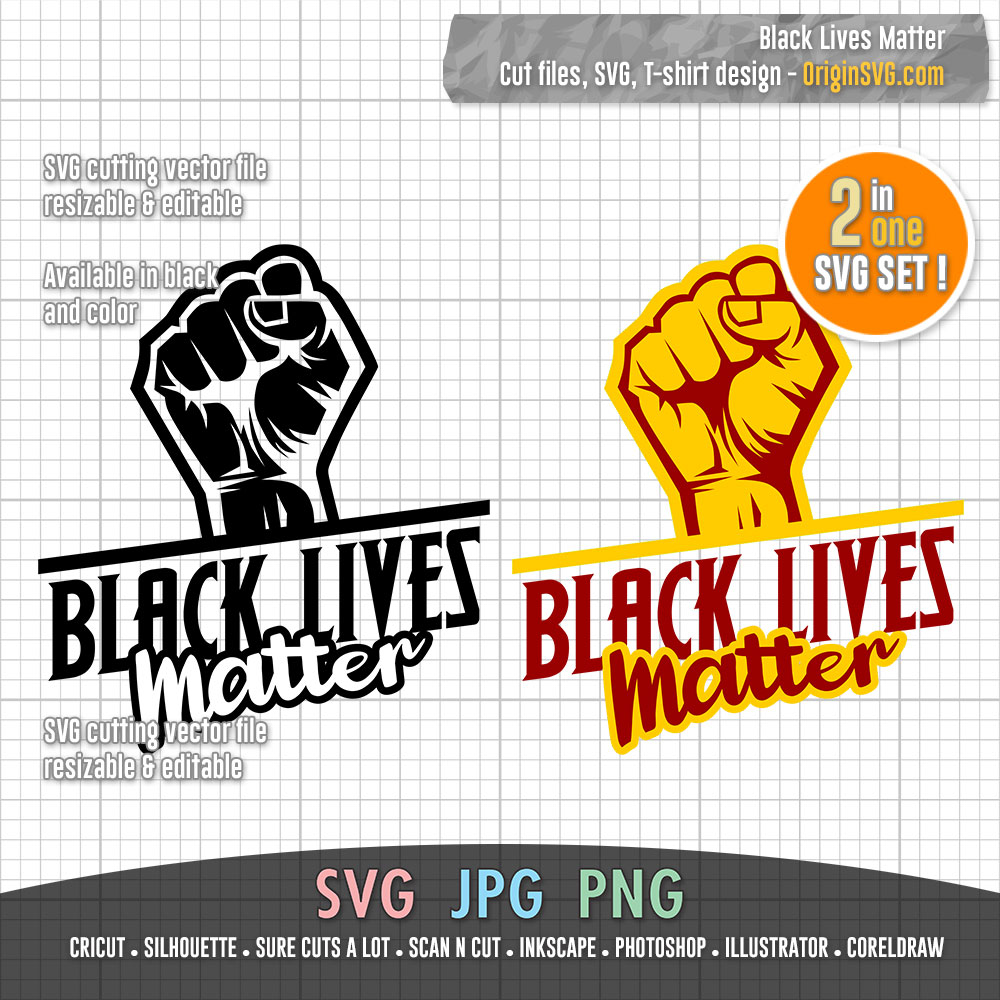 Black Lives Matter 03 Svg For T Shirt Design Stencil Cut Files Sticker Origin Svg Art