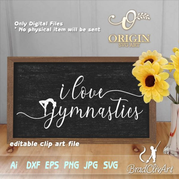 love gymnastics svg