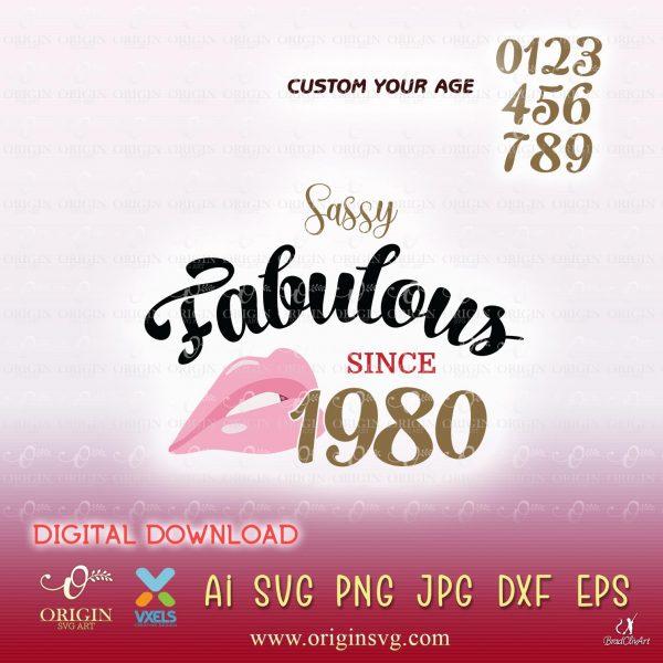 1980 birthday svg