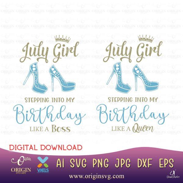 july birthday svg