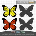 butterfly SVG fo starbucks cup or mug