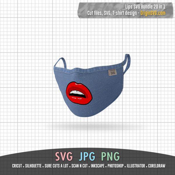 Lips Bundle SVG biting lips Sexy Sensual